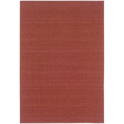 Kelli Red Indoor/Outdoor Area Rug Rug Size: Rectangle 37 x 56