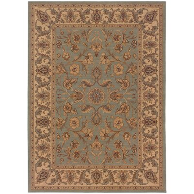 Coar Blue/Ivory Area Rug Rug Size: Rectangle 57 x 710