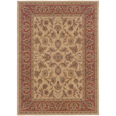 Coar Beige/Rust Area Rug Rug Size: Rectangle 910 x 124