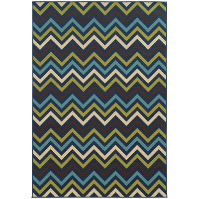 Heath Blue/Green Indoor/Outdoor Area Rug Rug Size: Rectangle 53 x 76