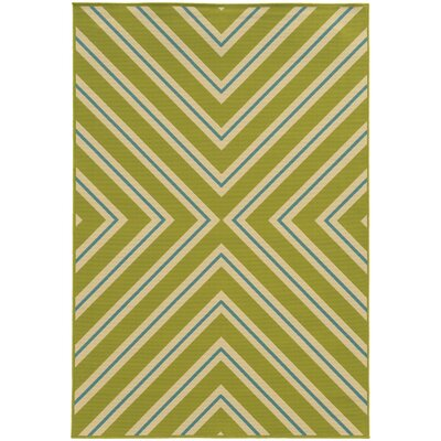 Heath Green/Ivory Indoor/Outdoor Area Rug Rug Size: Rectangle 37 x 56