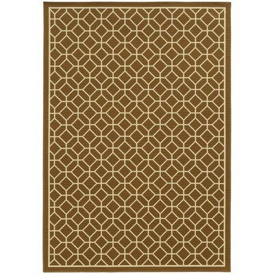 Liza Brown/Ivory Indoor/Outdoor Area Rug Rug Size: Rectangle 86 x 13