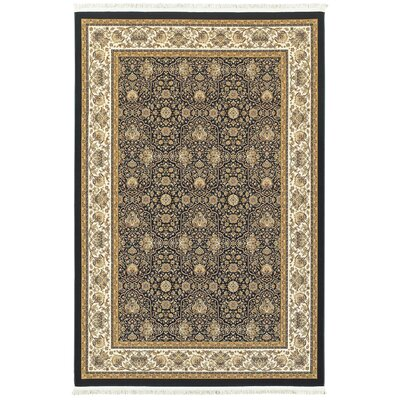 Knepp Panel Navy/Ivory Area Rug Rug Size: Rectangle 53 x 76