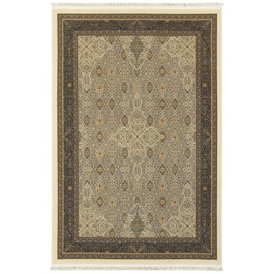 Knepp Traditional Ivory Area Rug Rug Size: Rectangle 67 x 96