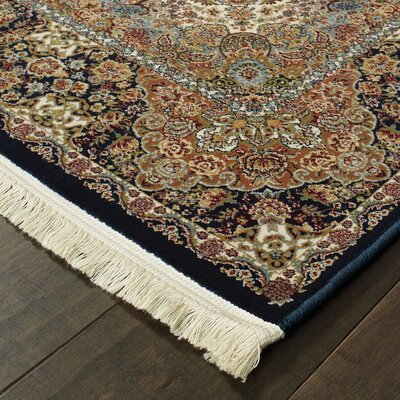 Knepp Medallion Beige/Brown Area Rug Rug Size: Rectangle 53 x 76