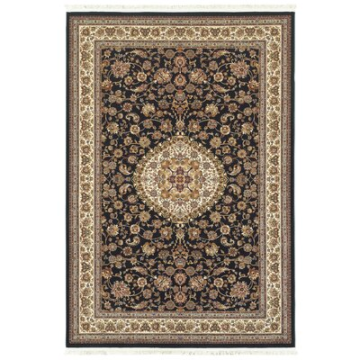 Knepp Classic Medallion Blue/Ivory Area Rug Rug Size: Rectangle 53 x 76