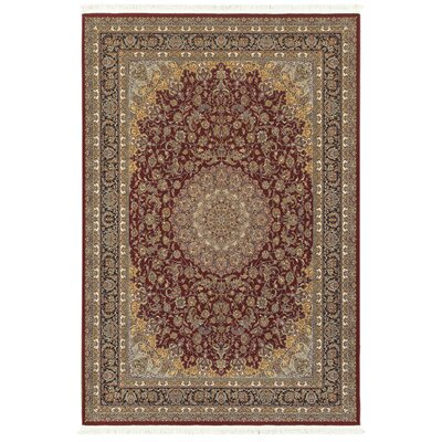 Knepp Baroque Medallion Red/Beige Area Rug Rug Size: Rectangle 9'10