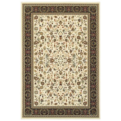 Knighten Ivory/Black Area Rug Rug Size: Rectangle 910 x 1210