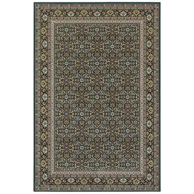 Knighten Navy/Gray Area Rug Rug Size: Rectangle 910 x 1210