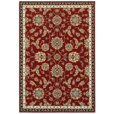 Knighten Classique Red/Beige Area Rug Rug Size: Rectangle 53 x 76