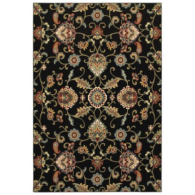 Knighten Black/Beige Area Rug Rug Size: Rectangle 53 x 76