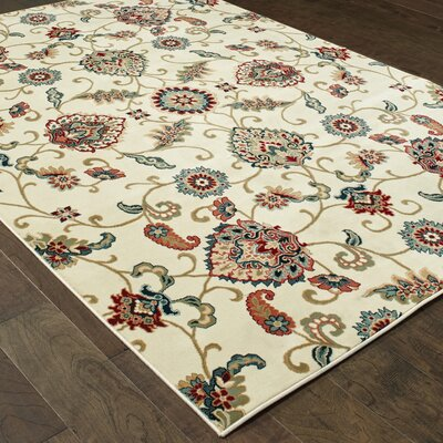 Knighten Ivory Area Rug Rug Size: Rectangle 67 x 96
