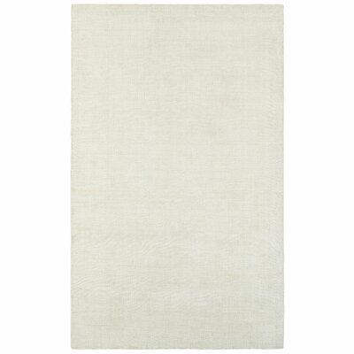 Grimes Plush Hand Tufted Ivory Area Rug Rug Size: Rectangle 36 x 56