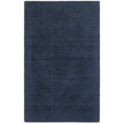 Grimes Plush Hand-Tufted Blue Area Rug Rug Size: Rectangle 5 x 8