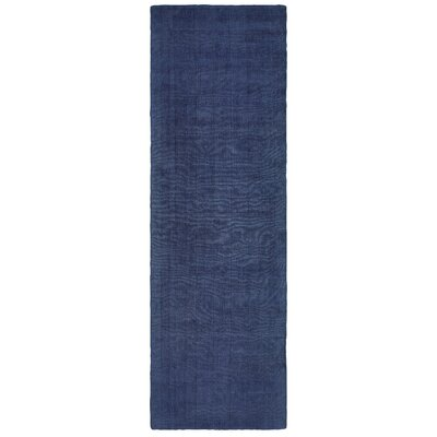 Grimes Plush Hand-Tufted Blue Area Rug Rug Size: Runner 26 x 8