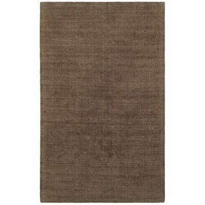 Grimes Plush Hand-Tufted Brown Area Rug Rug Size: Rectangle 36 x 56