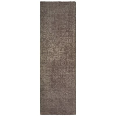 Grimes Plush Hand-Tufted Brown Area Rug Rug Size: Runner 26 x 8