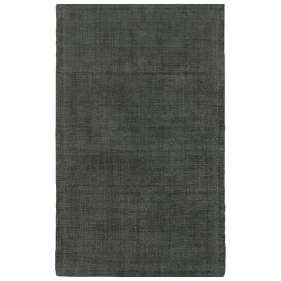 Grimes Plush Hand-Tufted Charcoal Area Rug Rug Size: Rectangle 5 x 8