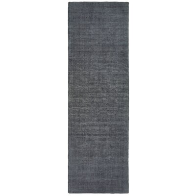 Grimes Plush Hand-Tufted Charcoal Area Rug Rug Size: Runner 26 x 8