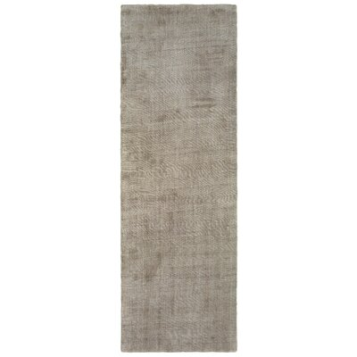 Grimes Plush Hand-Tufted Beige Area Rug Rug Size: Runner 26 x 8