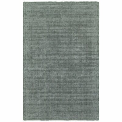 Grimes Plush Hand-Tufted Green Area Rug Rug Size: Rectangle 5 x 8