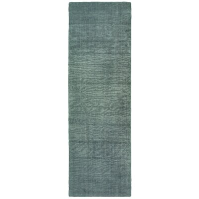 Grimes Plush Hand-Tufted Green Area Rug Rug Size: Runner 26 x 8