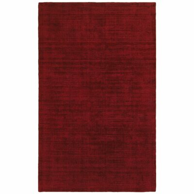 Grimes Plush Hand-Tufted Red Area Rug Rug Size: Rectangle 8 x 10