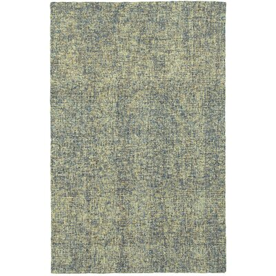 Laguerre Boucle Hand-Hooked Wool Blue/Green Area Rug Rug Size: Rectangle 36 x 56