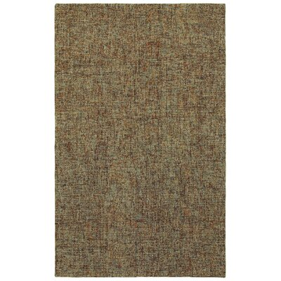 Laguerre Boucle Hand-Hooked Wool Brown/Gray Area Rug Rug Size: Rectangle 5 x 8