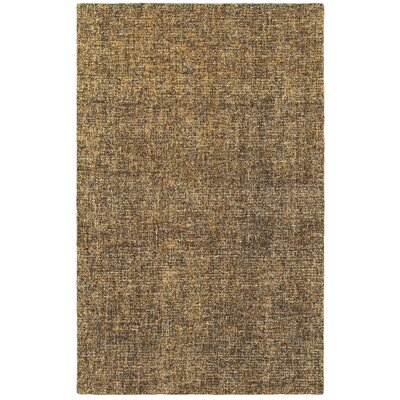 Laguerre Boucle Hand-Hooked Wool Brown/Beige Area Rug Rug Size: Rectangle 36 x 56