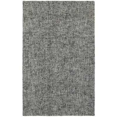 Laguerre Boucle Hand-Hooked Wool Blue/Gray Area Rug Rug Size: Rectangle 36 x 56