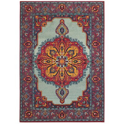 Belmonte Boho Chic Medallion Blue/Purple Area Rug Rug Size: Rectangle 67 x 96