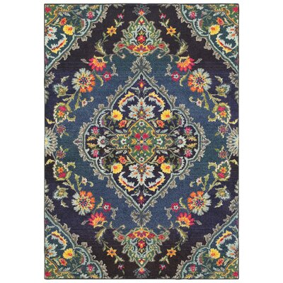 Belmonte Navy/Blue Area Rug Rug Size: Rectangle  99 x 122