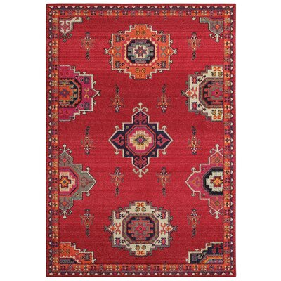 Belmonte Medallions Pink/Orange Area Rug Rug Size: Rectangle  99 x 122