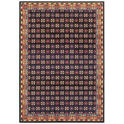 Belmonte Navy/Pink Area Rug Rug Size: Rectangle  99 x 122