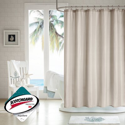 H2Ology Polyester Waffle Weave Shower Curtain - Color: Taupe at Sears.com