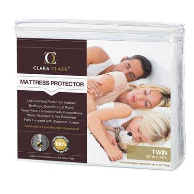 Clara Clark Bed Bug Proof Encasement / Premium Hypoallergenic Waterproof Mattress Protector w-cc-mtrs-cvr-t