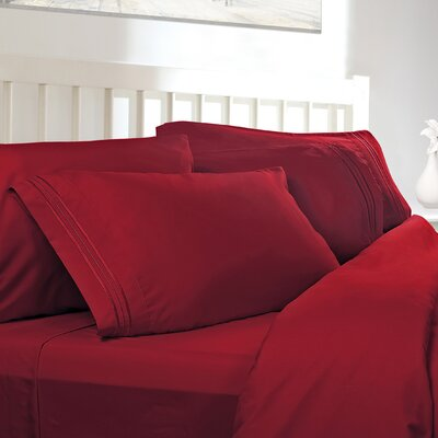 Embossed Checkerboard Design 820 Thread Count Sheet Set Color: Burgundy Red, Size: Queen