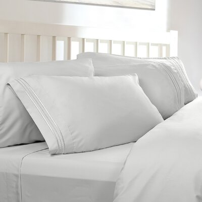 Embossed Checkerboard Design 820 Thread Count Sheet Set Color: White, Size: King