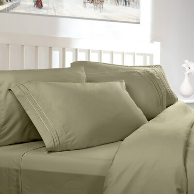 Embossed Checkerboard Design 820 Thread Count Sheet Set Color: Sage Green, Size: King