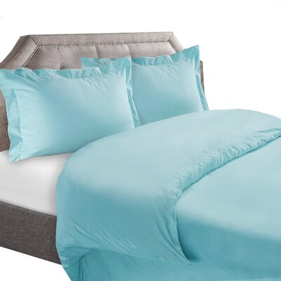 1800 Series Duvet Cover Set Color: Aqua, Size: Full