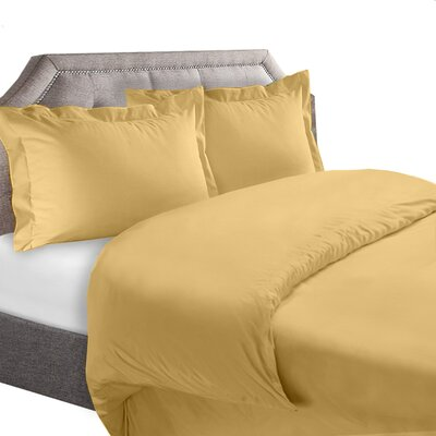 1800 Series Duvet Cover Set Color: Camel, Size: Full