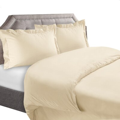 1800 Series Duvet Cover Set Color: Cream, Size: Full