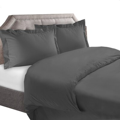 1800 Series Duvet Cover Set Size: Twin, Color: Gray