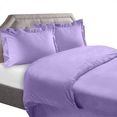 1800 Series Duvet Cover Set Color: Lavender, Size: King