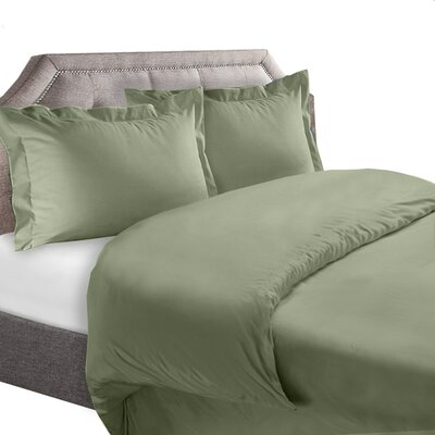1800 Series Duvet Cover Set Color: Sage, Size: King