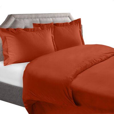1800 Series Duvet Cover Set Color: Rust, Size: King