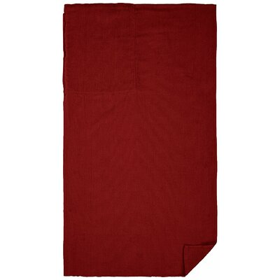 Cotton Beach Towel Color: Burgundy Red