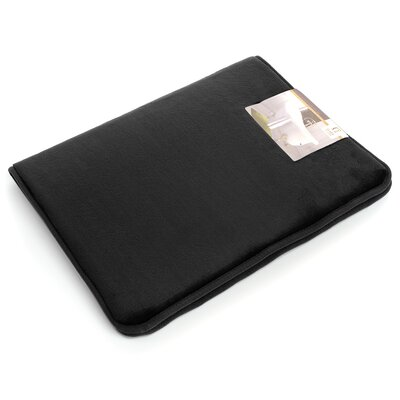 Non-Slip Memory Foam Tub-Shower Bath Rug Color: Black, Size: 1 H x 20 W x 32 D