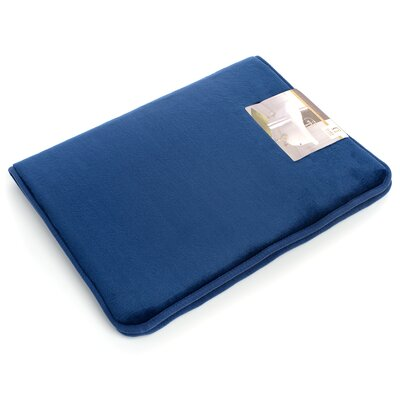 Non-Slip Memory Foam Tub-Shower Bath Rug Color: Royal Blue, Size: 1 H x 20 W x 32 D